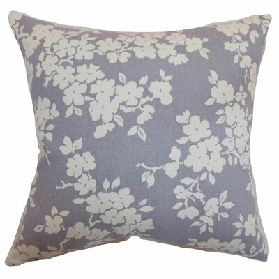 Vieste Floral Throw Pillow Color: Lavender, Size: 20 x 20