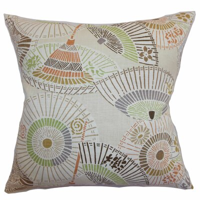 Valkeala Geometric Throw Pillow Color: Desert, Size: 24 x 24