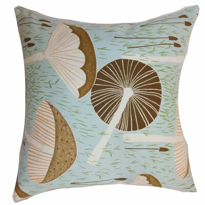 Xichan Floral Throw Pillow Color: Aqua Cocoa, Size: 18 x 18