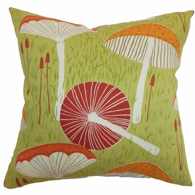 Xichan Floral Throw Pillow Color: Moss, Size: 18 x 18