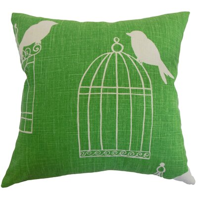 Alconbury Birds Throw Pillow Cover Size: 20 x 20, Color: Green