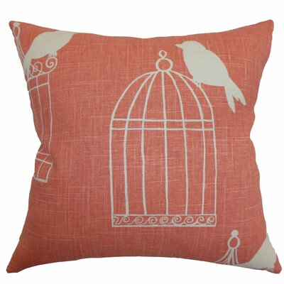 Alconbury Birds Bedding Sham Size: Standard, Color: Melon