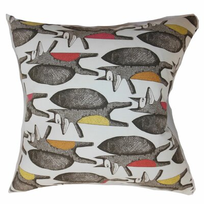Babolsar Slugs Cotton Throw Pillow Color: Warmth, Size: 18 x 18
