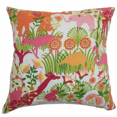 Caprivi Flora and Fauna Throw Pillow Color: Bubblegum, Size: 18 x 18