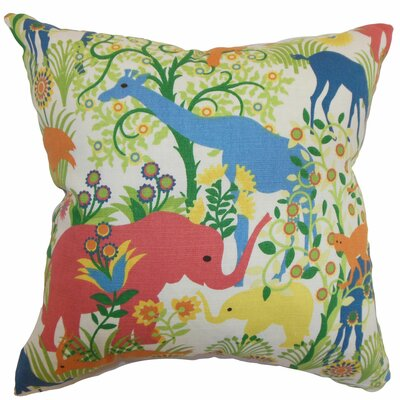Caprivi Flora and Fauna Throw Pillow Color: Multi, Size: 18 x 18