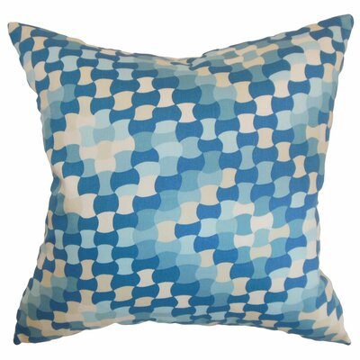 Clarence Geometric Cotton Throw Pillow Cover Size: 18 x 18, Color: Aquamarine
