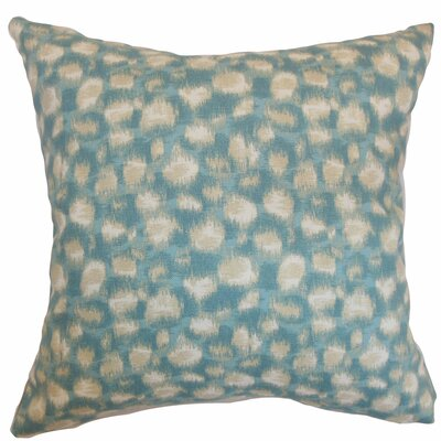 Kibby Throw Pillow Color: Aqua, Size: 22 x 22