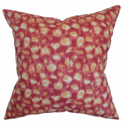 Kibby Throw Pillow Color: Azalea, Size: 18 x 18