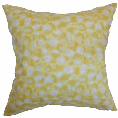 Kibby Throw Pillow Color: Banana, Size: 18 x 18