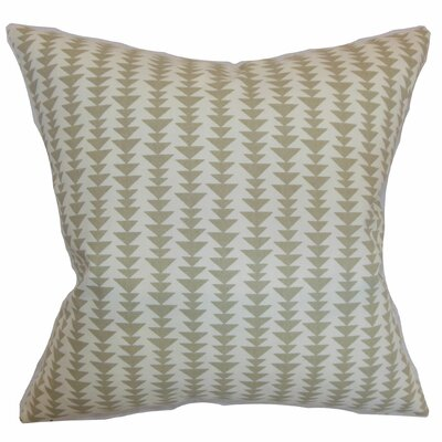Harrell Cotton Throw Pillow Color: Dove, Size: 18 x 18