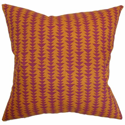 Harrell Cotton Throw Pillow Color: Mango, Size: 22 x 22