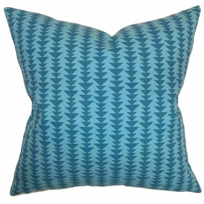 Harrell Cotton Throw Pillow Color: Peacock, Size: 22 x 22