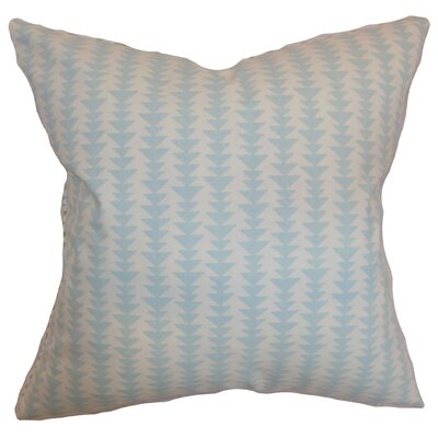 Jiri Cotton Throw Pillow Color: Sky Blue, Size: 18 x 18