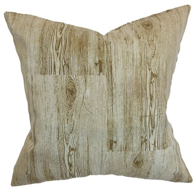 Sherilyn Throw Pillow Color: Toffee, Size: 18 x 18