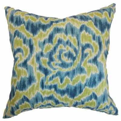 Arsenault Throw Pillow Color: Aqua Green, Size: 22 x 22