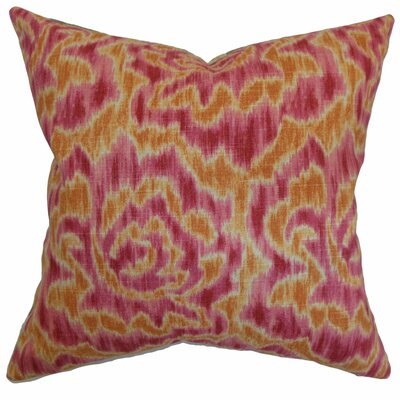 Arsenault Throw Pillow Color: Mango, Size: 20 x 20