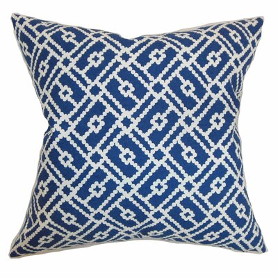 Majkin Geometric Cotton Throw Pillow Cover Size: 18 x 18, Color: Blue