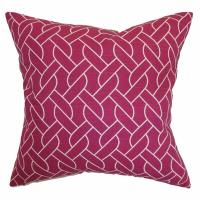 Bugarin Cotton Throw Pillow Color: Azalea, Size: 20 x 20