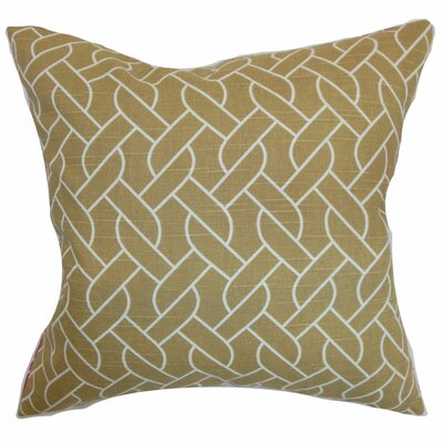Bugarin Cotton Throw Pillow Color: Camel, Size: 22 x 22