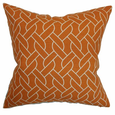 Neptune Cotton Throw Pillow Color: Mango, Size: 18 x 18