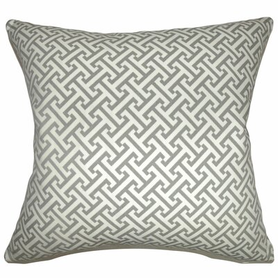 Quentin Cotton Throw Pillow Color: Ashes, Size: 18 x 18