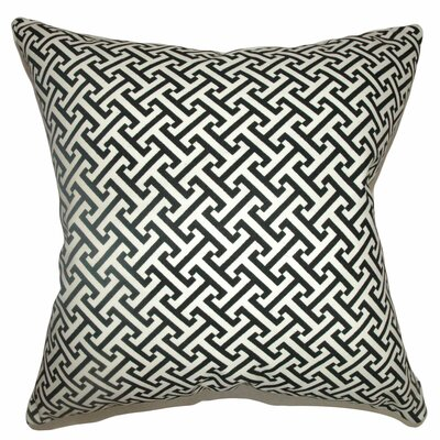 Quentin Cotton Throw Pillow Color: Black, Size: 18 x 18