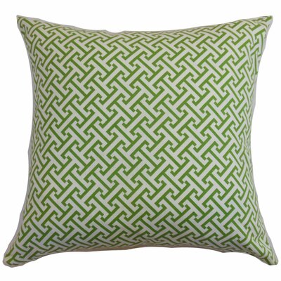 Quentin Cotton Throw Pillow Color: Shamrock, Size: 22 x 22