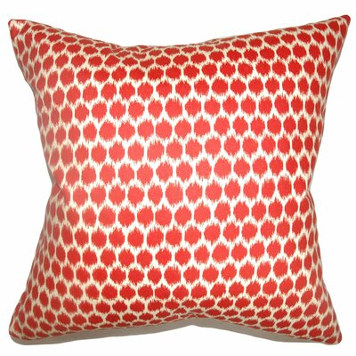 Daile Spots Cotton Throw Pillow Color: Carribean, Size: 24 x 24