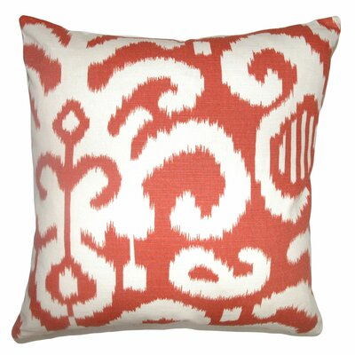 Teora Throw Pillow Color: Flame, Size: 18 x 18