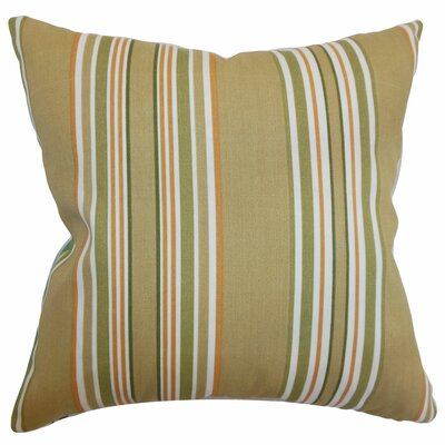 Fergus Stripes Throw Pillow Color: Autumn, Size: 18x18