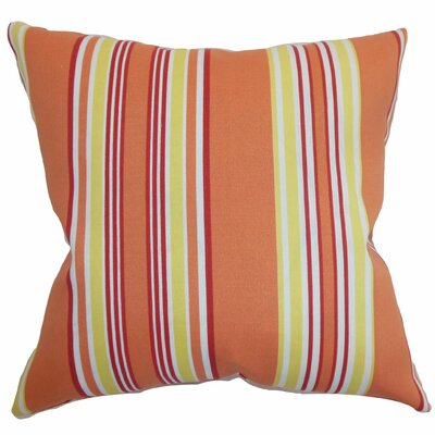Fergus Stripes Throw Pillow Color: Blaze, Size: 20 x 20