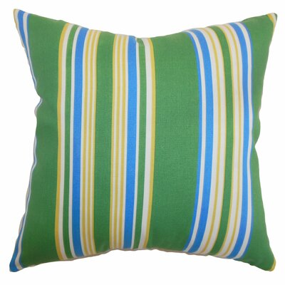Fergus Stripes Throw Pillow Color: Summer, Size: 18x18