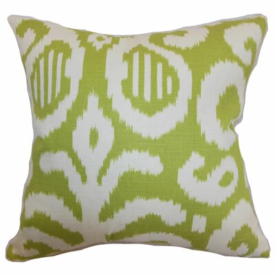 Hohenems Ikat Throw Pillow Color: Lime, Size: 22 x 22
