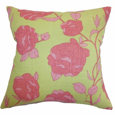 Lalomalava Floral Throw Pillow Color: Blossom, Size: 18 x 18