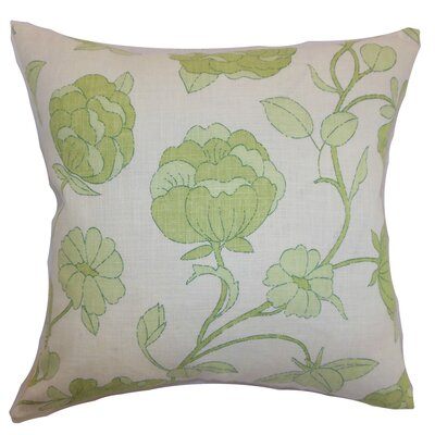 Lalomalava Floral Throw Pillow Color: Spring Green, Size: 18 x 18