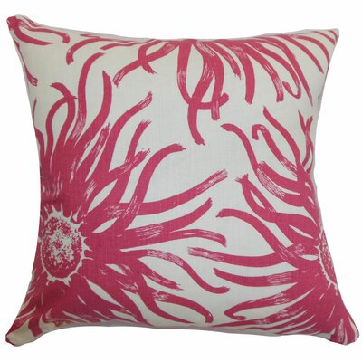 Ndele Floral Throw Pillow Color: Rosewood, Size: 18 x 18