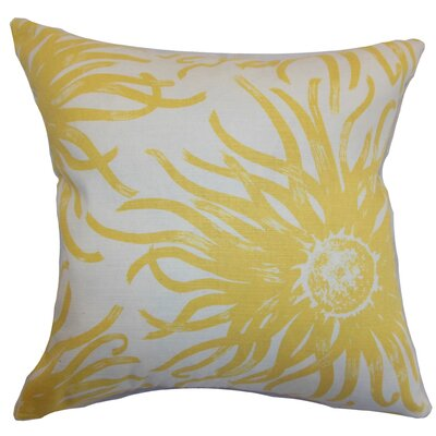 Ndele Floral Throw Pillow Color: Yellow, Size: 22 x 22