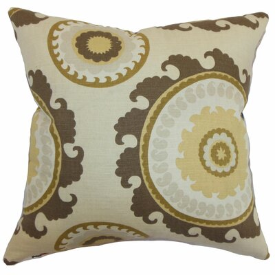 Obyan Geometric Throw Pillow Color: Natural, Size: 18 x 18