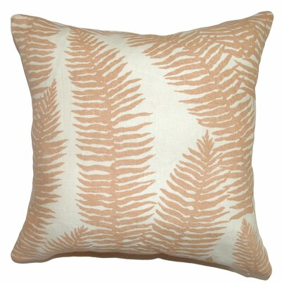 Udele Leaf Cotton Throw Pillow Size: 18 x 18