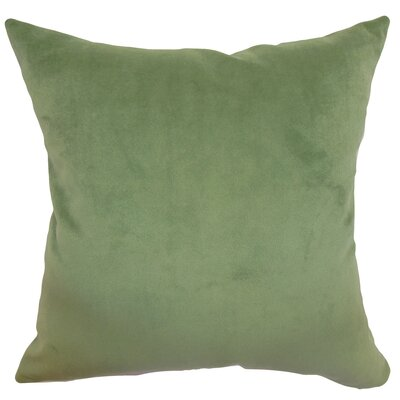 Generys Plain Velvet Throw Pillow Size: 18 x 18