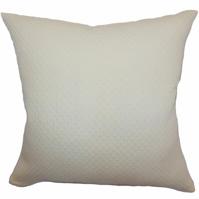 Capri Herringbone Cotton Throw Pillow Size: 18 x 18