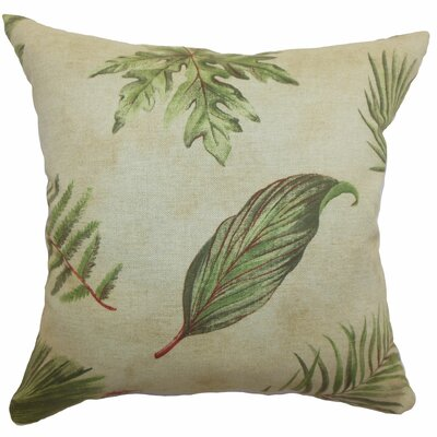 Barsia Leaf Cotton Throw Pillow Size: 18x18