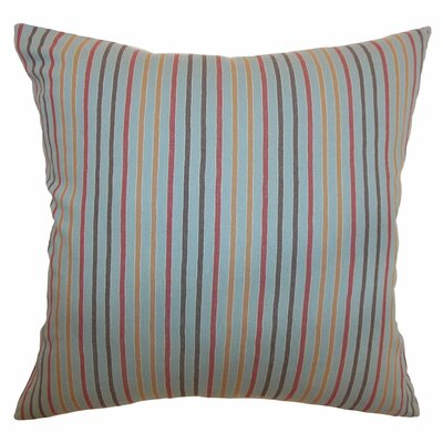 "The Pillow Collection Lesly Stripes Cotton Pillow - Size: 20"" x 20"""