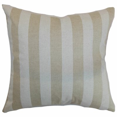 Ilaam Stripes Bedding Sham Size: Queen, Color: Cloud Linen
