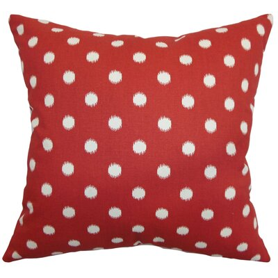 Rennice Ikat Dots Bedding Sham Size: Euro, Color: Red/Natural