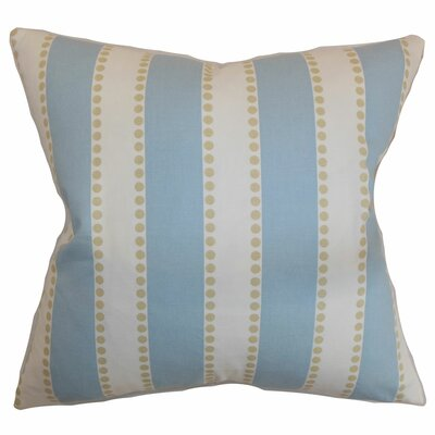 Odienne Stripe Cotton Throw Pillow Color: Putty, Size: 18 H x 18 W