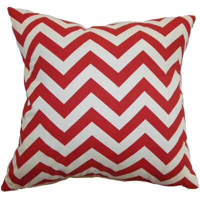 Xayabury Cotton Throw Pillow Color: Lipstick Natural, Size: 18 x 18