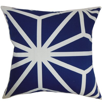 Dazu Cotton Throw Pillow Color: Sapphire, Size: 18 x 18