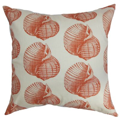 Bahari Cotton Throw Pillow Color: Persimmon, Size: 20 x 20