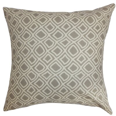 Cacia Cotton Throw Pillow Color: Grey, Size: 18 x 18